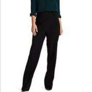 J. Crew black Preston wool wide leg trouser pants